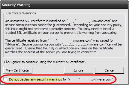 VI Client SSL thumbprint cache cleanup | VCritical
