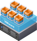 VMware encapsulation makes VMs independent and portable.