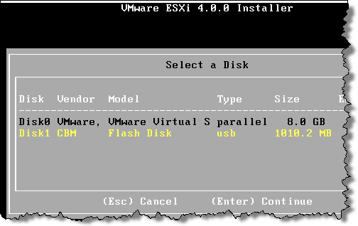 Creating an ESXi USB flash drive with VMware Workstation