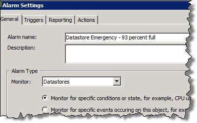 Datastore Alarm