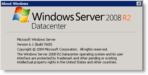 Windows Server 2008 R2 - version 6.1