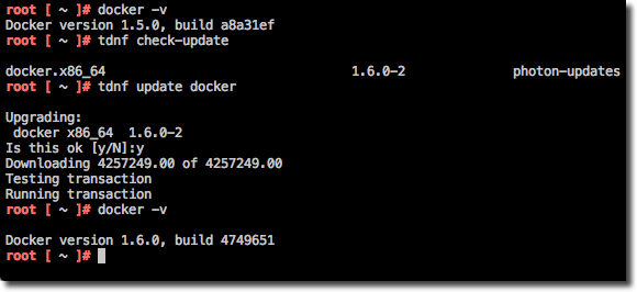 Update Docker with TDNF